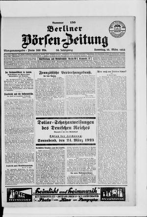 Berliner Börsen-Zeitung vom 18.03.1923