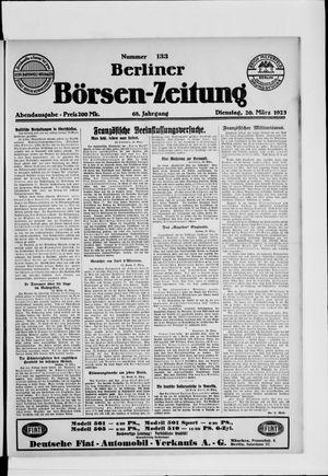 Berliner Börsen-Zeitung vom 20.03.1923