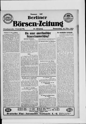 Berliner Börsen-Zeitung vom 22.03.1923