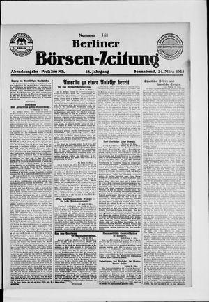 Berliner Börsen-Zeitung vom 24.03.1923