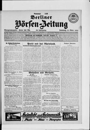 Berliner Börsen-Zeitung vom 25.03.1923