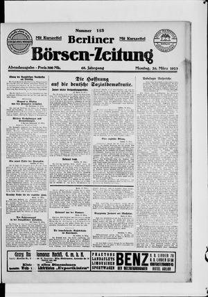 Berliner Börsen-Zeitung vom 26.03.1923