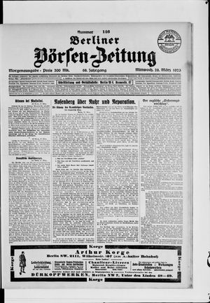 Berliner Börsen-Zeitung vom 28.03.1923