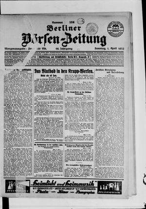 Berliner Börsen-Zeitung vom 01.04.1923