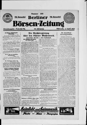Berliner Börsen-Zeitung vom 04.04.1923