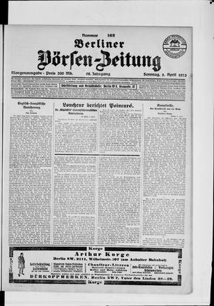 Berliner Börsen-Zeitung vom 08.04.1923