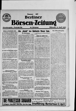 Berliner Börsen-Zeitung vom 11.04.1923