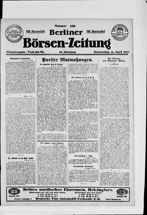 Berliner Börsen-Zeitung vom 12.04.1923