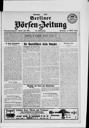 Berliner Börsen-Zeitung vom 13.04.1923