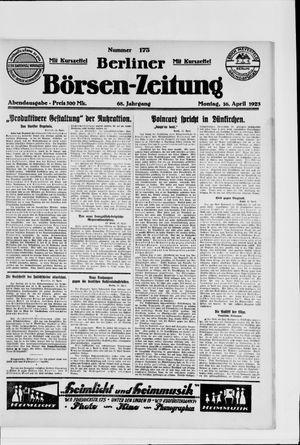 Berliner Börsen-Zeitung vom 16.04.1923
