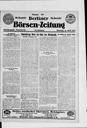Berliner Börsen-Zeitung vom 17.04.1923