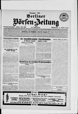 Berliner Börsen-Zeitung vom 18.04.1923