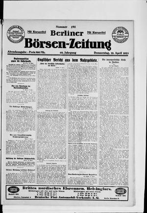 Berliner Börsen-Zeitung vom 19.04.1923