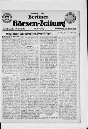 Berliner Börsen-Zeitung vom 21.04.1923