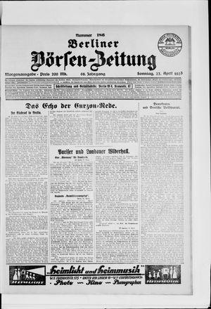 Berliner Börsen-Zeitung vom 22.04.1923