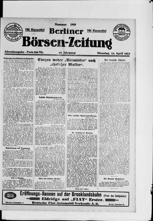 Berliner Börsen-Zeitung vom 24.04.1923
