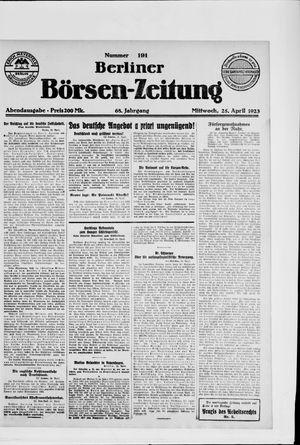 Berliner Börsen-Zeitung vom 25.04.1923