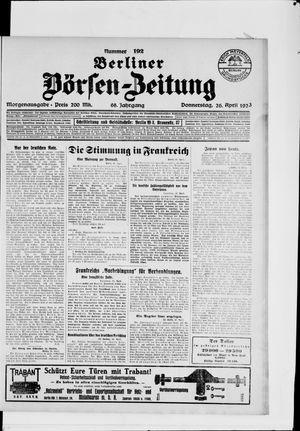 Berliner Börsen-Zeitung vom 26.04.1923