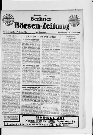 Berliner Börsen-Zeitung vom 28.04.1923