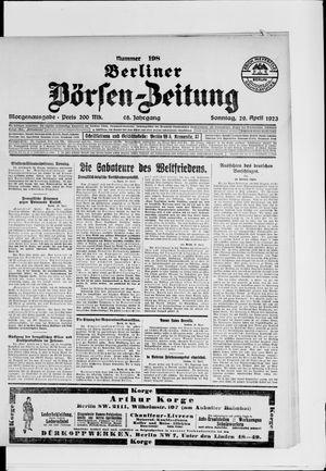 Berliner Börsen-Zeitung vom 29.04.1923