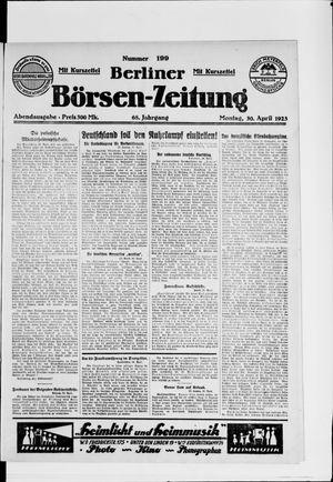 Berliner Börsen-Zeitung vom 30.04.1923