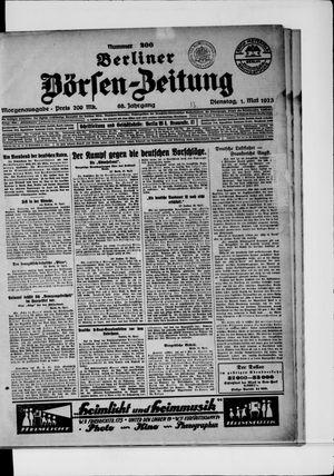 Berliner Börsen-Zeitung vom 01.05.1923