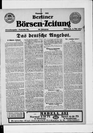 Berliner Börsen-Zeitung vom 02.05.1923