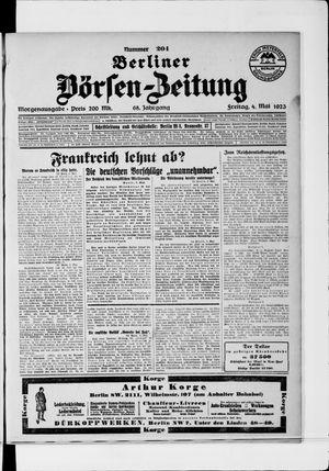 Berliner Börsen-Zeitung vom 04.05.1923