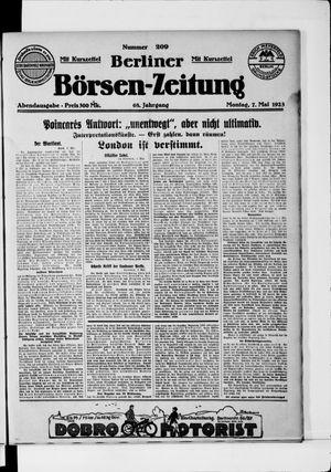 Berliner Börsen-Zeitung vom 07.05.1923