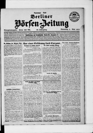 Berliner Börsen-Zeitung vom 08.05.1923