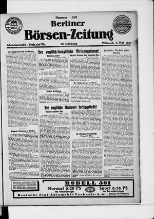 Berliner Börsen-Zeitung vom 09.05.1923