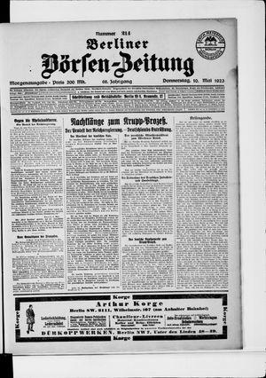 Berliner Börsen-Zeitung vom 10.05.1923