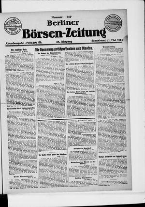 Berliner Börsen-Zeitung on May 12, 1923