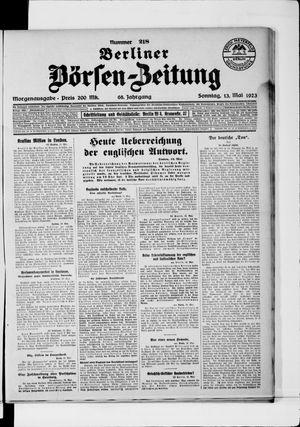 Berliner Börsen-Zeitung vom 13.05.1923