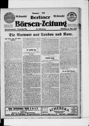 Berliner Börsen-Zeitung vom 14.05.1923