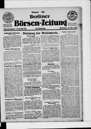 Berliner Börsen-Zeitung vom 15.05.1923