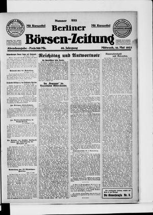 Berliner Börsen-Zeitung vom 16.05.1923