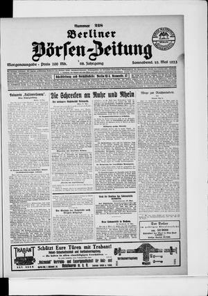 Berliner Börsen-Zeitung vom 19.05.1923