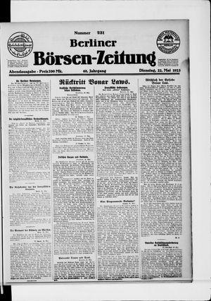 Berliner Börsen-Zeitung vom 22.05.1923