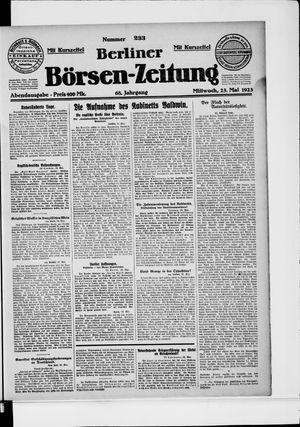 Berliner Börsen-Zeitung vom 23.05.1923