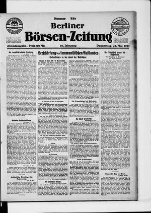 Berliner Börsen-Zeitung vom 24.05.1923