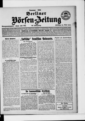 Berliner Börsen-Zeitung vom 25.05.1923