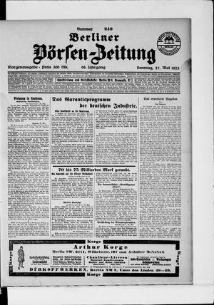 Berliner Börsen-Zeitung vom 27.05.1923