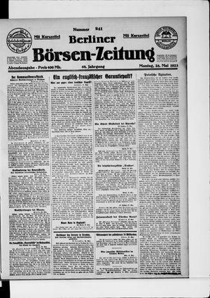 Berliner Börsen-Zeitung vom 28.05.1923
