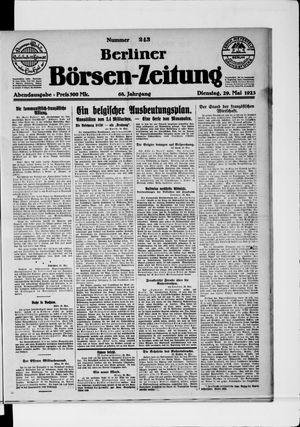 Berliner Börsen-Zeitung vom 29.05.1923