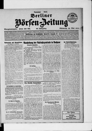 Berliner Börsen-Zeitung on May 30, 1923