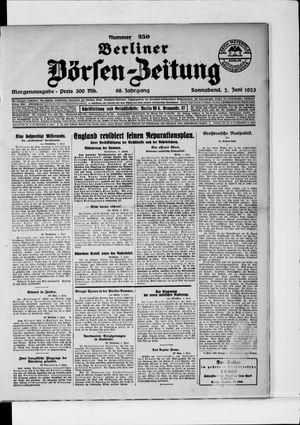 Berliner Börsen-Zeitung vom 02.06.1923