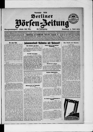 Berliner Börsen-Zeitung vom 03.06.1923