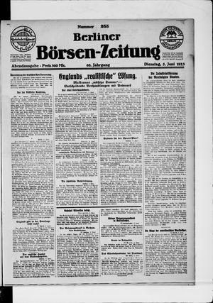 Berliner Börsen-Zeitung vom 05.06.1923
