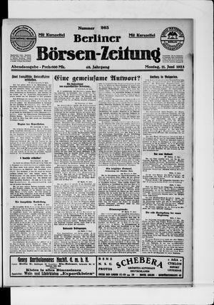 Berliner Börsen-Zeitung vom 11.06.1923
